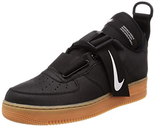 81d5a884ebbd6 Nike Air Force 1 Utility Unisex/Men's Shoes Black/White/Gum-Medium Brown  ao1531-002 (8.5 D(M) US)