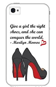 Shoes - Louboutin - Marilyn Monroe Quote - 5 / 5S White iPhone Case