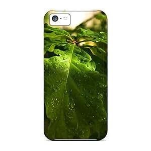 Premium Tpu Oak Leaves Cover Skin For Iphone 5c
