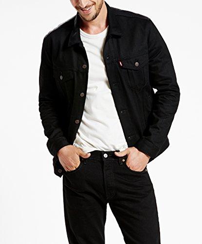 Levi's Regular Fit Trucker Jacket (XL, Polished Black) by Levi's