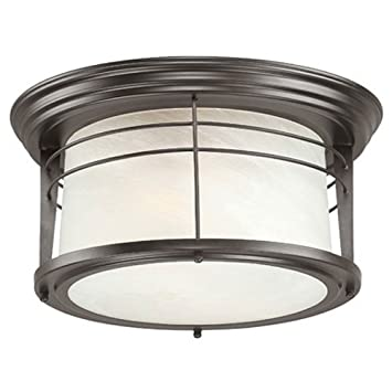 two light exterior flush mount fixture weathered bronze finish ceiling covers lowes bathroom lighting led kitchen