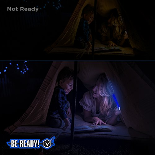 Be Ready Blue Glow Sticks - Industrial Grade 8+ Hours Illumination Emergency Safety Chemical Light Glow Sticks (24 Pack) by Windy City Novelties (Image #3)