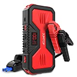 JUMTOP QDSP 1200A Peak 12000mAh Portable Car Jump Starter (8.0L Gas and 6.0L Diesel Engine) Auto Battery Booster Power Bank Phone Charger with Dual USB Smart Charging Port and LED Flashlight