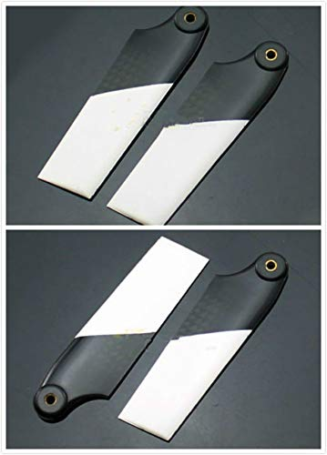 Yoton Accessories 2 Pairs Tarot RC 500 Helicopter Part 76mm Carbon Fiber Tail Blade for RC AlignT-REX Trex 500 Helicopter