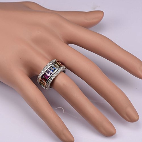 Morganite Blue Topaz Garnet Amethyst Ruby Pink Kunzite Aquamarine 925 Sterling Silver Ring Size X 1/2 iJoJWKE