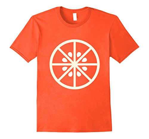 Mens Orange Fruit Pulp Cute Cheap Halloween Simple Costume Tee 2XL Orange (Simple Cheap Funny Halloween Costumes)