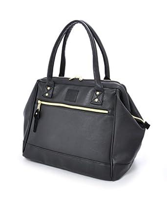 Amazon.com | Anello PU Leather Boston Shoulder Bag Handbag (Black