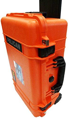 "NEW Pelican ""Colors"" series - Orange Pelican 1510 Case with"