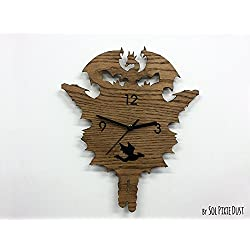 Dragons Modern Cuckoo clock - Wooden Wall Clock