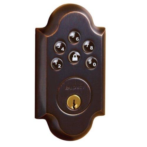 (Baldwin Hardware 8252.112.AC3 Boulder Z-Wave Electronic Deadbolt - Venetian Bronze)