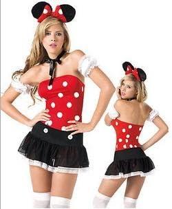JX & JX disfraz sexy cat Girl Mickey Bar Minnie Vestido Disfraces ...