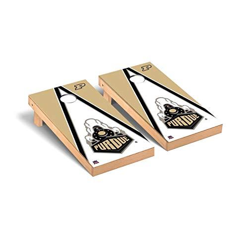 Victory Tailgate Regulation Collegiate NCAA Triangle Series Cornhole Board Set - 2 Boards, 8 Bags - Purdue Boilermakers