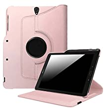 Fintie Samsung Galaxy Tab S3 9.7 Case, Premium PU Leather 360 Degree Swivel Stand Cover with S Pen Protective Holder Auto Sleep / Wake for Tab S3 9.7 (SM-T820 / T825 / T827) 2017 Release, Rose Gold