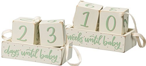 1 - Double Sided Countdown - Weeks Until Baby / Days Until Baby Primitives By Kathy 36454