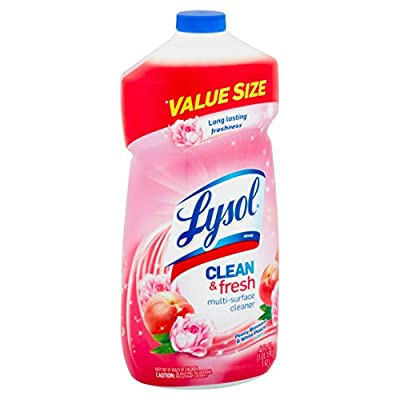 Lysol Power and Fresh All Purpose Cleaner, Peony Blossom & White Peach, 48 Ounce