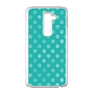 Polka-Dot-Design---Blue LG G2 Cell Phone Case White Auilr