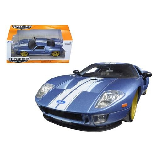 2005-ford-gt-black-1-24-by-jada-97366-ab