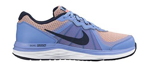 Nike Mädchen Dual Fusion X 2 (GS) Laufschuhe Blau (Chalk Blue/Obsidian-Bright Mango-White)