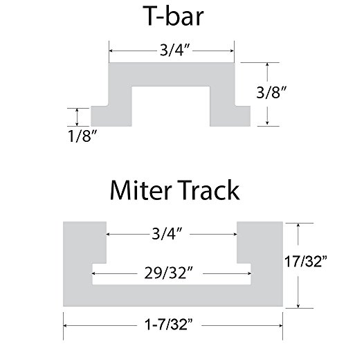 48'' ALUMINUM MITER T-TRACK WITH MITER T- BAR by Peachtree Woodworking - PW1036 by Peachtree Woodworking Supply (Image #2)