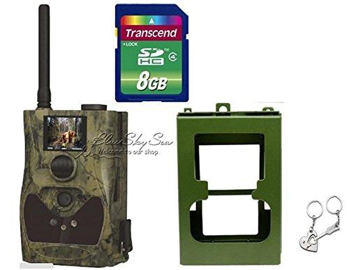 Bluskysea Free Gift Keychain  2015 ScoutGuard SG880MK-8M HD 720P GPRSMMS Trail Scouting Hunting Game Camera (SG880MK-8M8GBMetal Box)