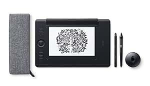 Wacom PTHP-660-S Intuos Pro Paper - Tableta gráfica con bolígrafo sensible a la presión a 8000 niveles y función de digitalización de arte creado en papel, tamaño M