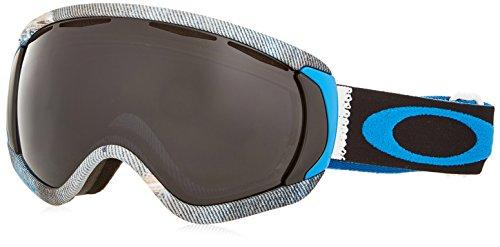 Oakley OO7047-12 Canopy Eyewear, Aberdeen White/Blue, Dark Grey - Lenses Oakleys Blue With White