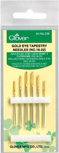 Eye Needles Gold (Clover Gold Eye Tapestry, No. 18-22)