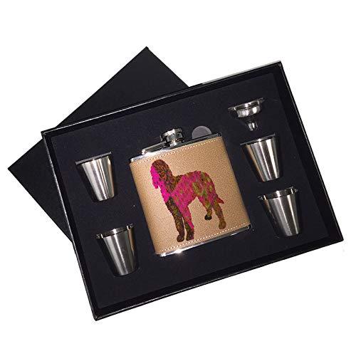人気カラーの サンシャインケース - 6オンス B07KVH24QL ゴールデンドゥードル - 子犬 ピンク 6オンス Liquor ヒップフラスコ ブラックボックス ギフトセット ショットグラス&じょうご B07KVH24QL, マツバラシ:85b71a70 --- a0267596.xsph.ru