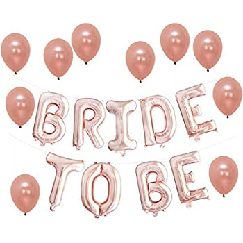 c6158320a0be Amazon.com  K KUMEED Bride to BE Balloons Banner Rose Gold 16 ...