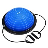 KUOKEL Exercise Balance Ball, Yoga Exercise Ball with Pump Balance Fitness Trainer Home Exercise Training Balance Boards and Foot Pump, 58cm