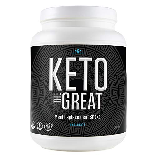 Keto Meal Replacement Shake - Low Calorie and Low Carb Keto Diet Protein Powder Shake with Plant Proteins Including Pea and Brown Rice Protein, BHB and MCT Ketones, Decadent Chocolate, 1 Pound