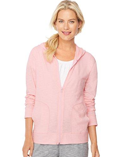 Pink Zip Hoodie Sweatshirt - 1