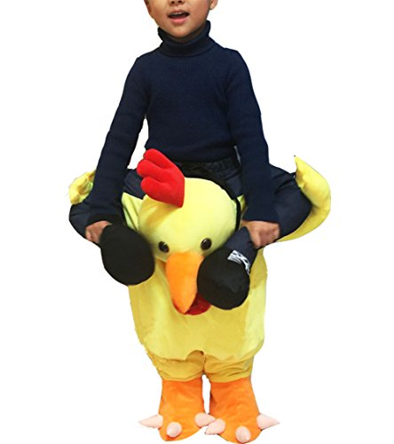 Chicken Mascot Costumes (Huiyankeji Piggyback Ride On Riding Shoulder Kids Costume Easter Mascot Pants (Chicken))