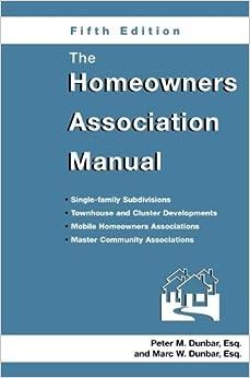 Book Homeowners Association Manual