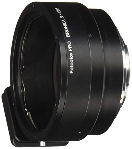 Fotodiox Pro Lens Mount Adapter - Bronica S SLR Lens to Canon EOS (EF, EF-S) Mount SLR Camera Body
