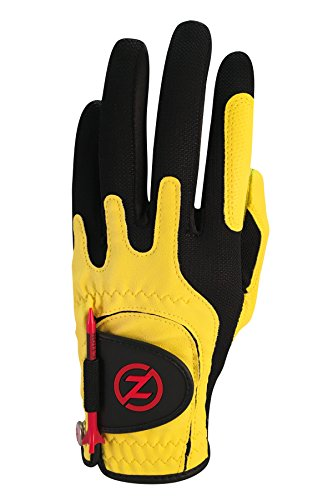 Zero Friction Men's Synthetic Golf Glove, Yellow, Left Hand, One Size