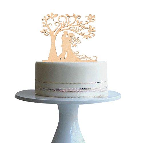 Bride-and-Groom-Silhouette-Tree-Wedding-Cake-Topper-Rustic-Wood