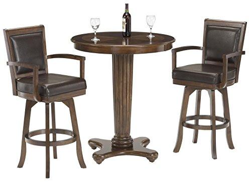 Hillsdale Furniture Ambassador 3-Piece Pub Set - Cherry Finish Pub Game Table