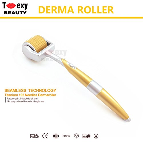 0.5 Mm Roller Tip - 0.5mm, Micro Needles Derma Roller 192 Titanium Tips for Skin Care Beauty Tool, Anti Aging Wrinkles Hair Loss Acne Scars