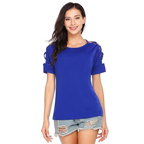 Cheap dongba Women Casual T Shirts Short Sleeves Hollow Out Blouse Tops for cheap