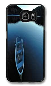Boat Lake PC Case Cover for Samsung S6 and Samsung Galaxy S6 Black