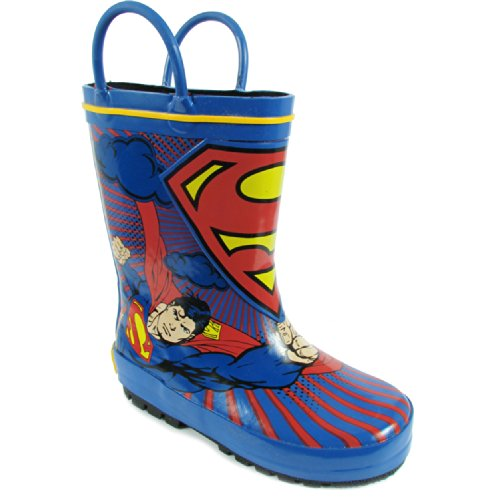 DC Comics Superman Rain Boot (Toddler/Little Kid),Blue/Red /Yellow,7 M US (Red Superman Boots)