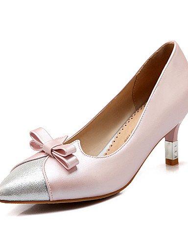 GGX/ Zapatos de mujer-Tacón Cono-Tacones / Puntiagudos-Tacones-Oficina y Trabajo / Casual-PU-Azul / Rosa / Beige , pink-us10.5 / eu42 / uk8.5 / cn43 , pink-us10.5 / eu42 / uk8.5 / cn43 beige-us8 / eu39 / uk6 / cn39