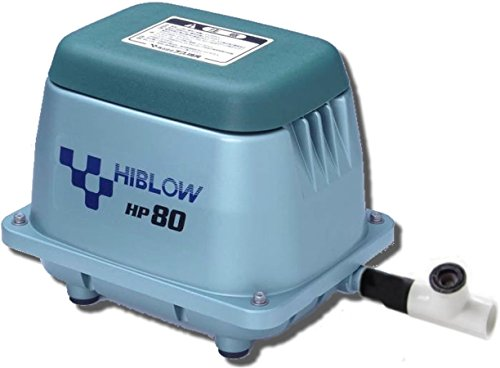 HiBlow HP80 Septic Linear Air Pump (Longest Lasting Pump on The Market) w/Back Pressure Safety ()
