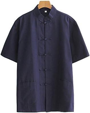 (ジ-ライク)G-like 唐装 男 夏 半袖 上着 コットン シャツ チャイナ風