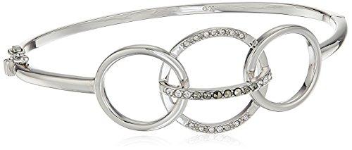 Judith Jack Sterling Silver Circle Swarovski Marcasite Cuff Bracelet (Marcasite Cuff)