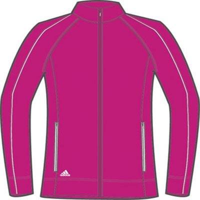 adidas Golf Girl's 3-Stripe Piped Jacket, Bahia Magenta/White, X-Large (Adidas Golf Mens Climalite 3 Stripes Tech Pant)