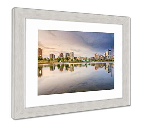 (Ashley Framed Prints Birmingham, Alabama City Skyline, Wall Art Home Decoration, Color, 34x40 (Frame Size), Silver Frame, AG32675660)