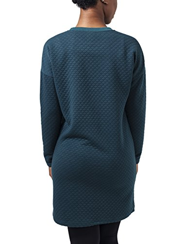 Urban Classics Ladies Quilt Oversize Dress, Vestido para Mujer Blau (Petrol 730)