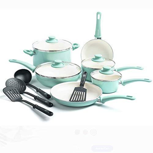 GreenLife Ceramic Non-Stick 14 Piece Cookware Set
